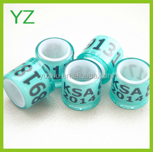 2017 Transparet Blue Color Rings Pigeon Bands Custom Pigeon Bands