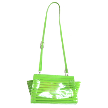 Women Sling Shoulder Bag Clear Striped PVC Crossbody Bag Transparent Messenger Bag
