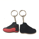 Shoe Shape factory custom rubber soft pvc keychain,key chain custom logo 18years experience