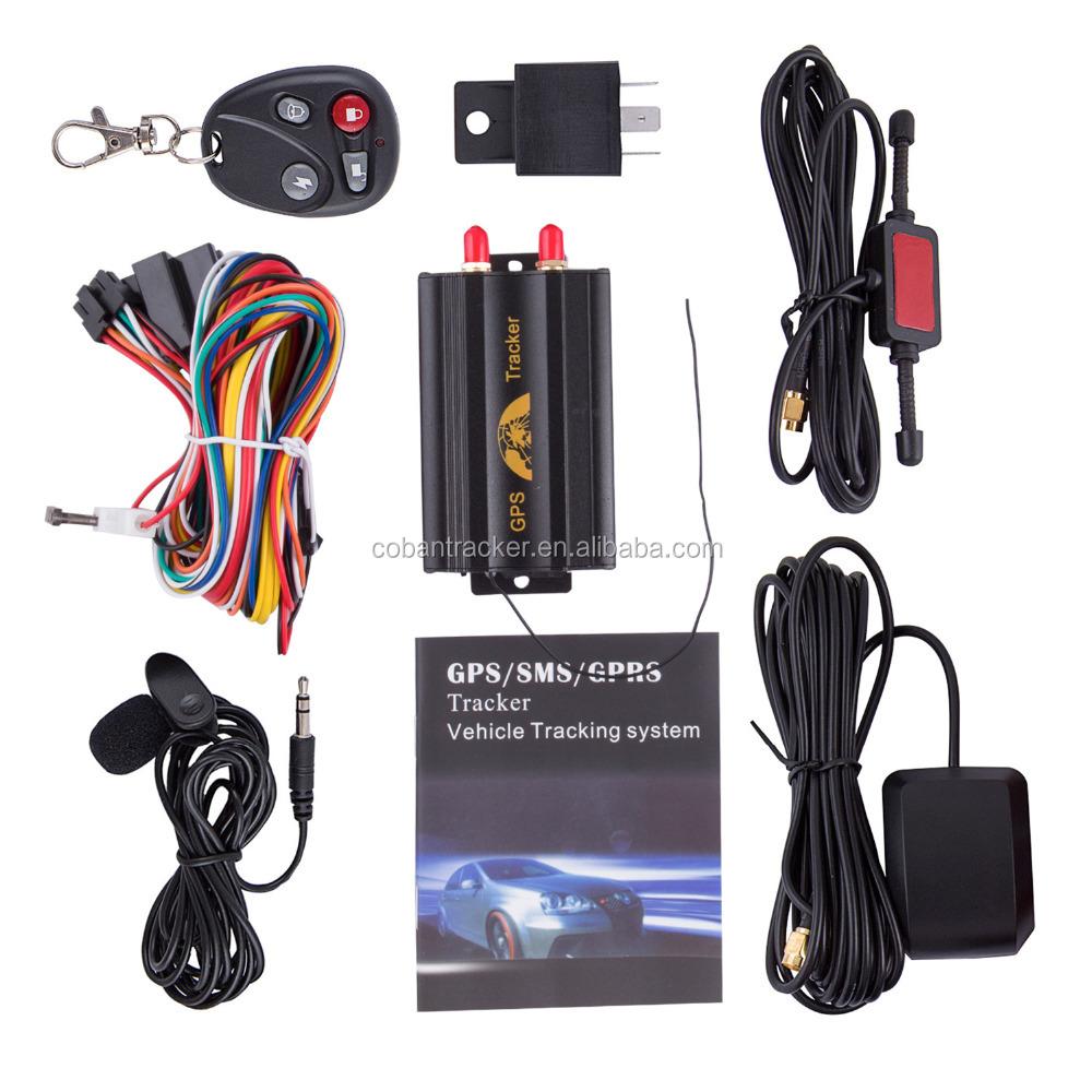 GPS רכב צי רכב tracker tk103 gsm מכשיר האזנה, מערכת מעקב gps האוטומטי