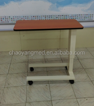 portable hospital bedside tables/hospital used moveable over bed