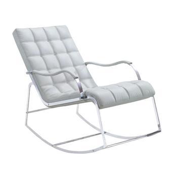 Weiss Leder Stahlrahmen Modernen Lounge Sessel Schaukelstuhl Buy