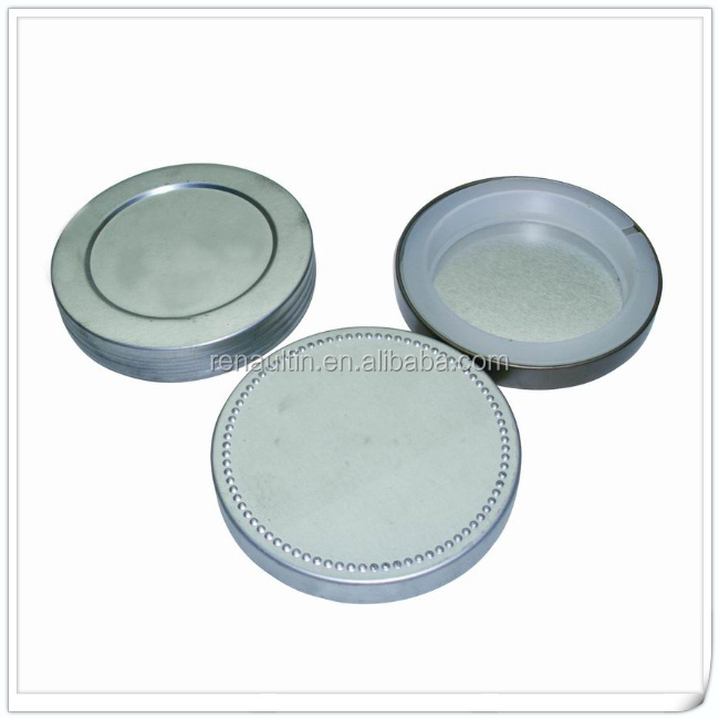 Metal tin lid with silicone