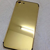 Luxury custom 24kt gold crystal housing back cover housing for iphone 7 24k
