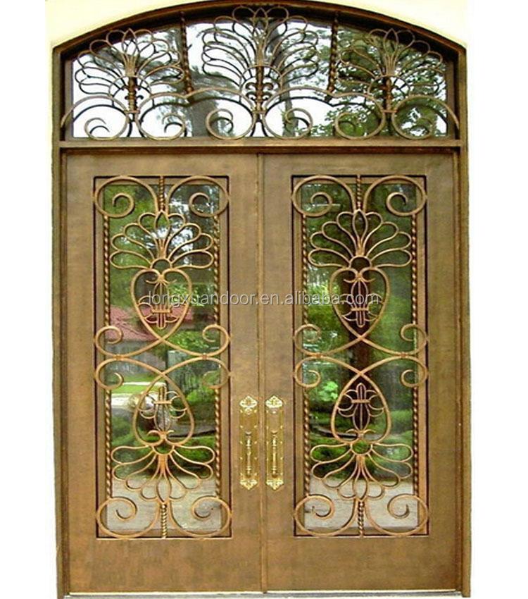 Barato hierro forjado puerta utilizados exterior puertas - Puertas hierro forjado exterior ...