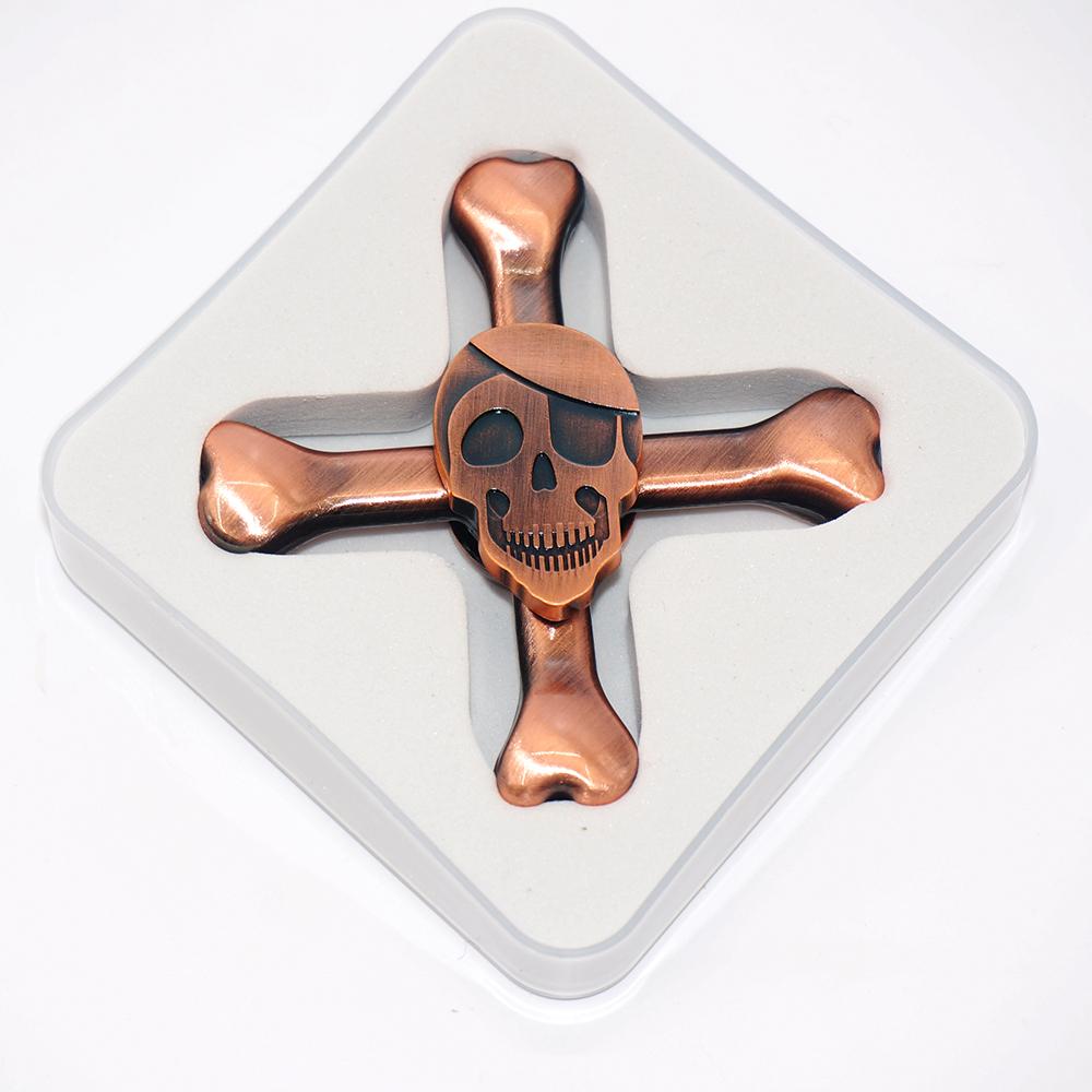 Fingertip Custom R188 Bearing Skull Crazy Fidget Spinner Adult Toy