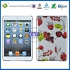 Crystal candy colors back transparent color plastic hard case for ipad mini