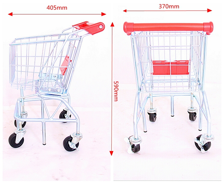 Easy carry folding mini kids shopping toy trolley & cart