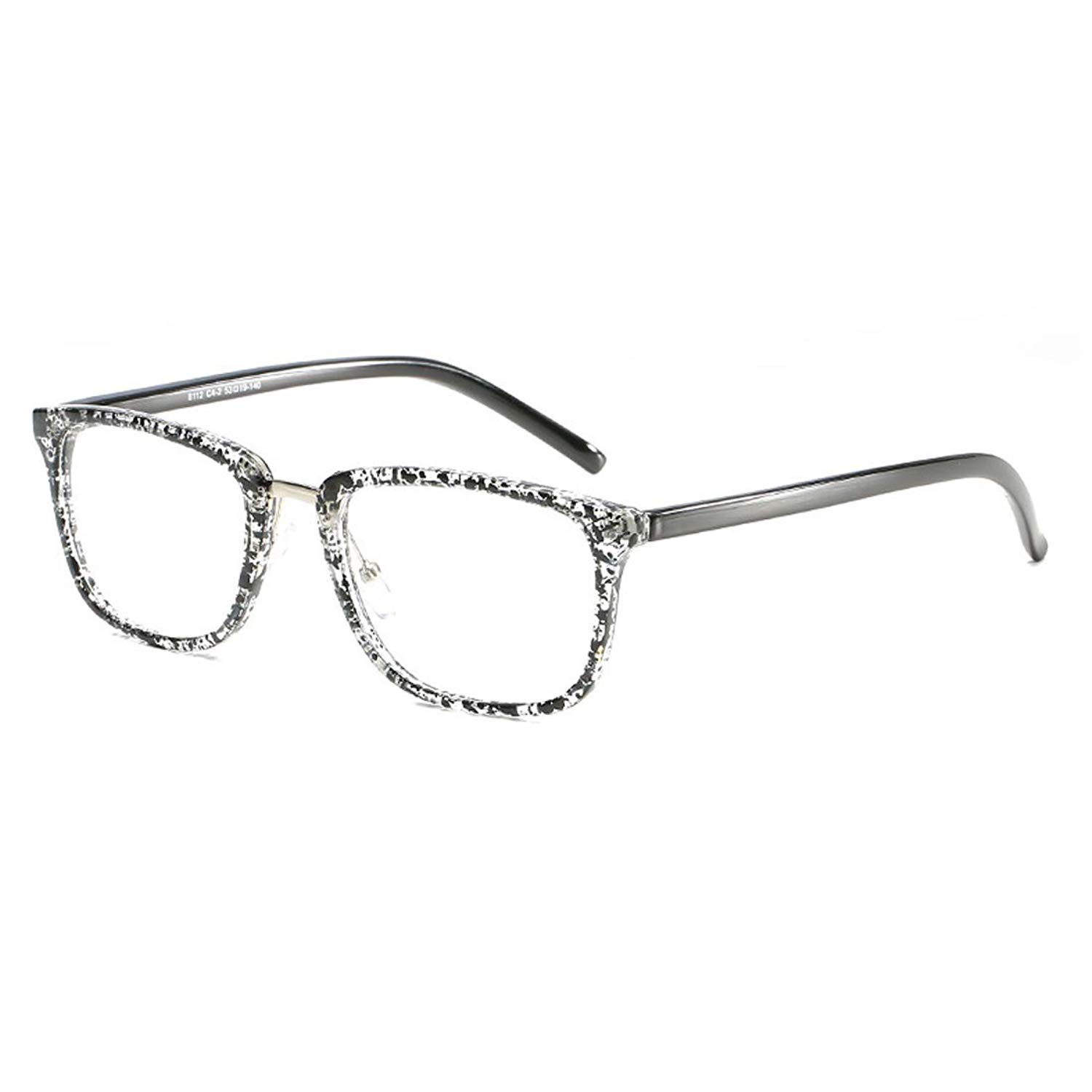 cb8d6f0f8b0d Get Quotations · D.King Unisex Vintage Oversized Horn Rimmed Eyeglasses  Clear Lens Non Prescription Eyeglasses