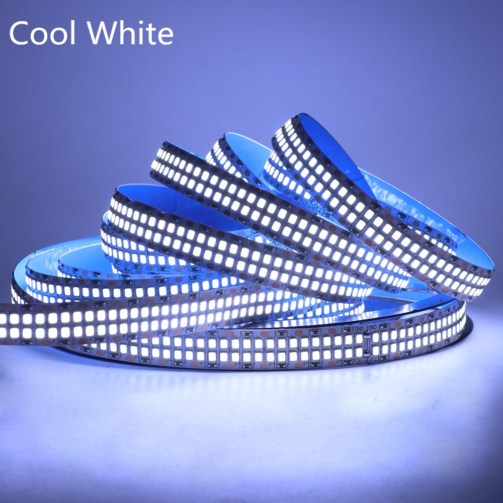 480LEDs/m 2835 LED Lights Strip Double Row Cool/Warm White 60LEDs/m 240LEDs/m LED Lamp Flexible Tape Rope Stripe LED Light 12V