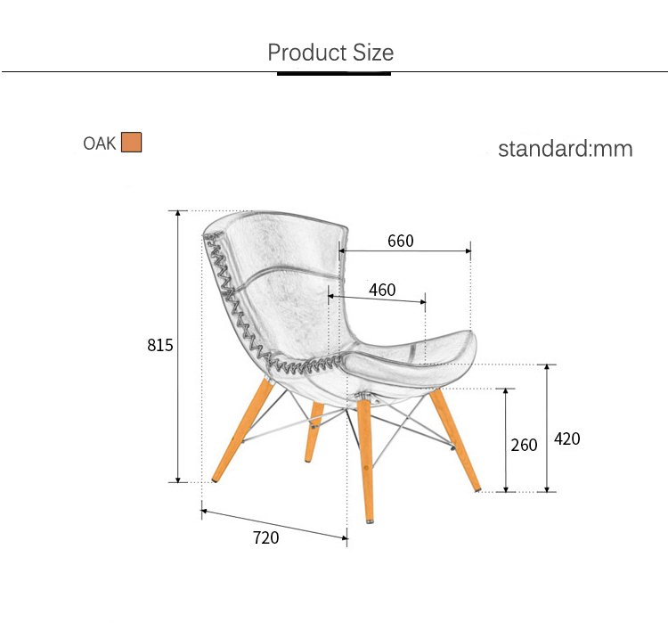 Metal Base Bamboo Chair Living Room Tantra Chair Hand Stiching Pu Leather  Wire Chair