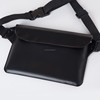 non-transparent black PVC waterproof waist pouch bag dry bag waterproof running belt waist bag