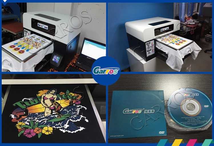 Garros digital T-shirt printer garment white black T-shirt printing machine