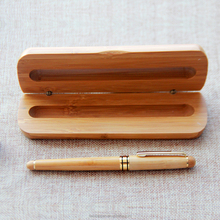 Office gift set 2016 bamboo fountain pen with box handmade luxury fountain pen