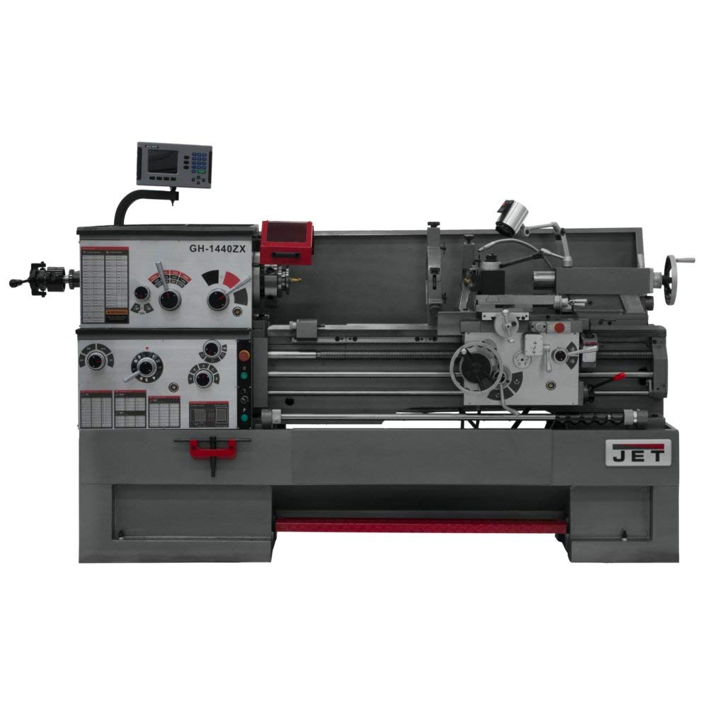 JET GH-1440ZX Lathe with 300S DRO, TAK and Collet Closer