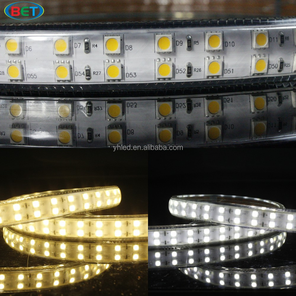 Compare High Lumen 5730 Led Double Brighter Than 5050 120led/m Flex Neon 5630 Smd Strip Double Row 220v