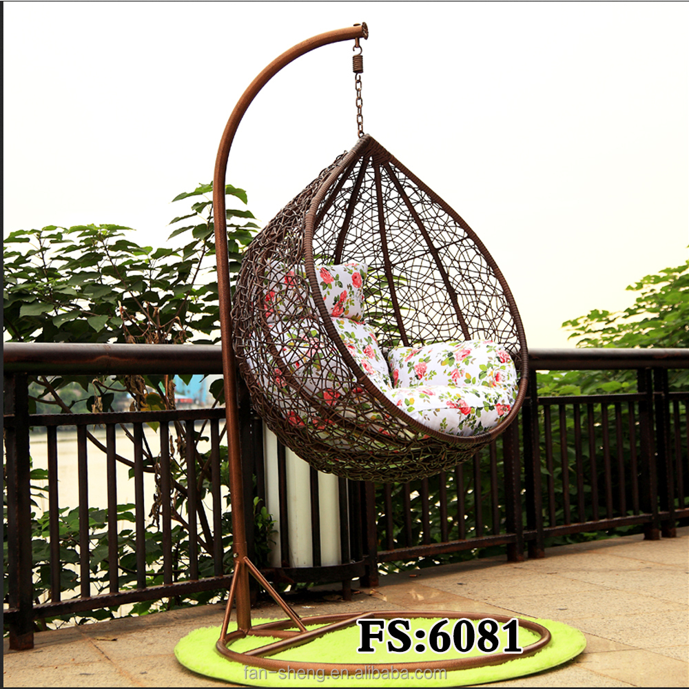 PE Rattan Hanging Chair Cum Swing Chair Outdoor Round Shaped Hammock