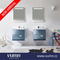 Cheap wholesale blue single double bathroom vanity cabinet only