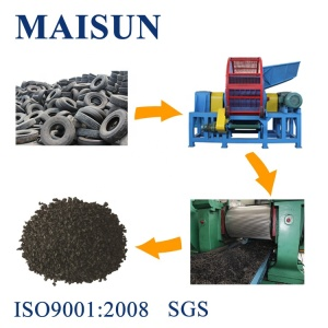 Rubber processing waste tires recycling machine line