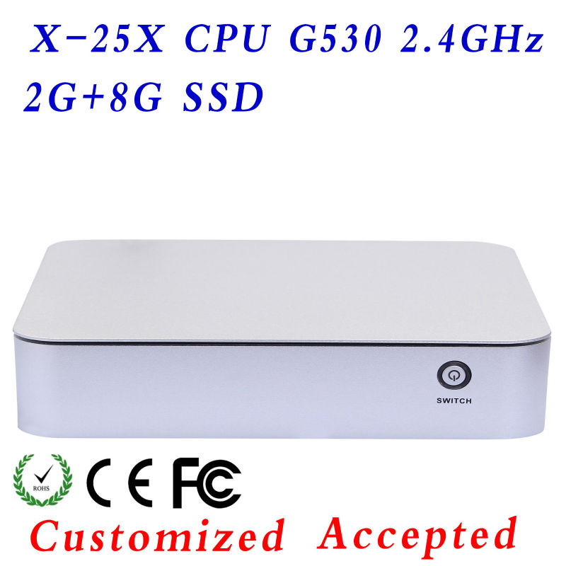 Ncomputing X86 Mini PC CPU G530 2.4GHz, Dual Core DDR3 Motherboard 2G , 16G HDD mini mother board small pc