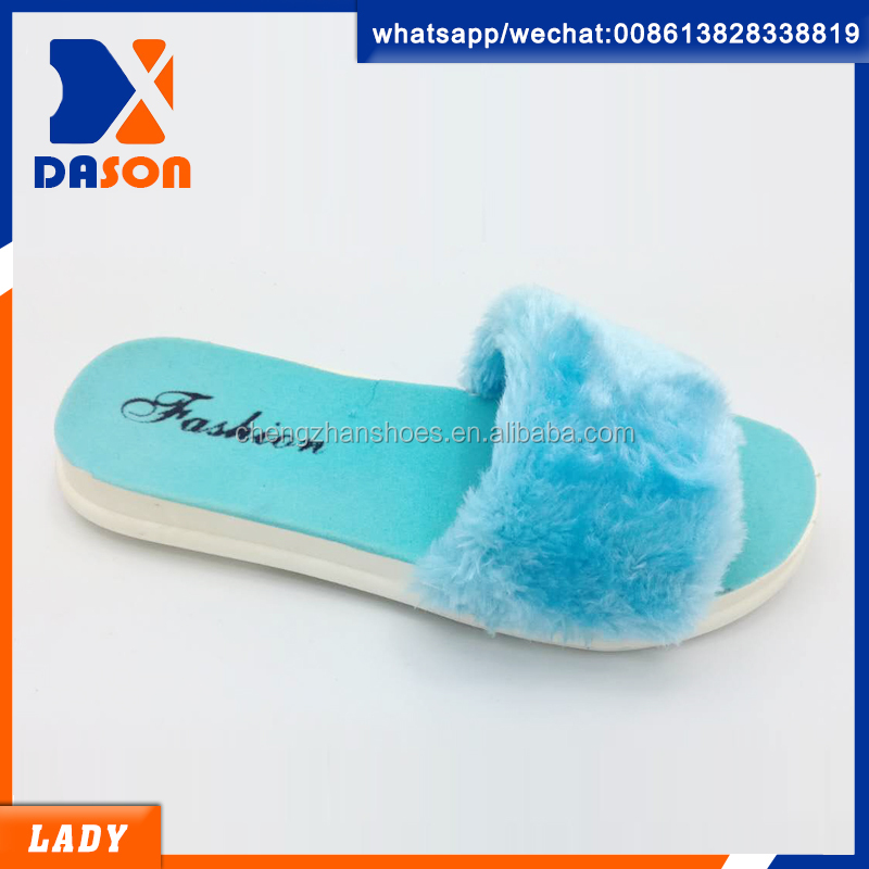 good design hairy pcu slippers ladies made in china 2017