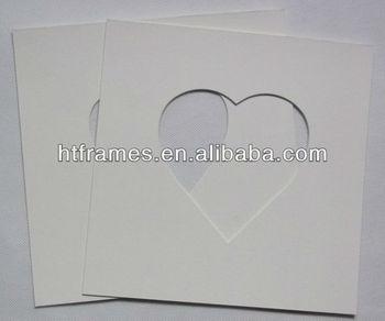 Custom Do Cut Cream Heart Shape Frame Mat