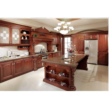 Fully Customized Traditional Solid Wood Cabinet Design For Kitchen