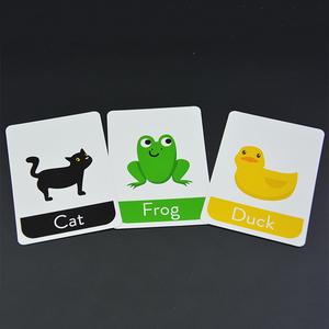 Educational flash cards printing custom memory card game