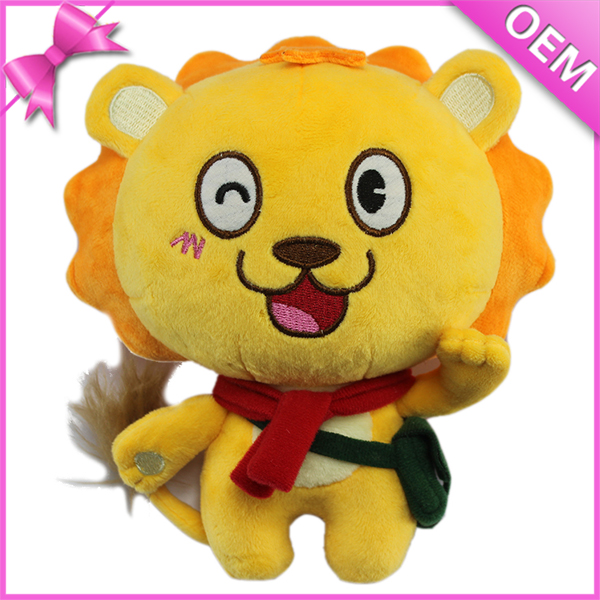 25cm Standing Kids Safe Yellow Plush Cute Soft Tiger Toy, Plush Tiger, Stuffed Tiger