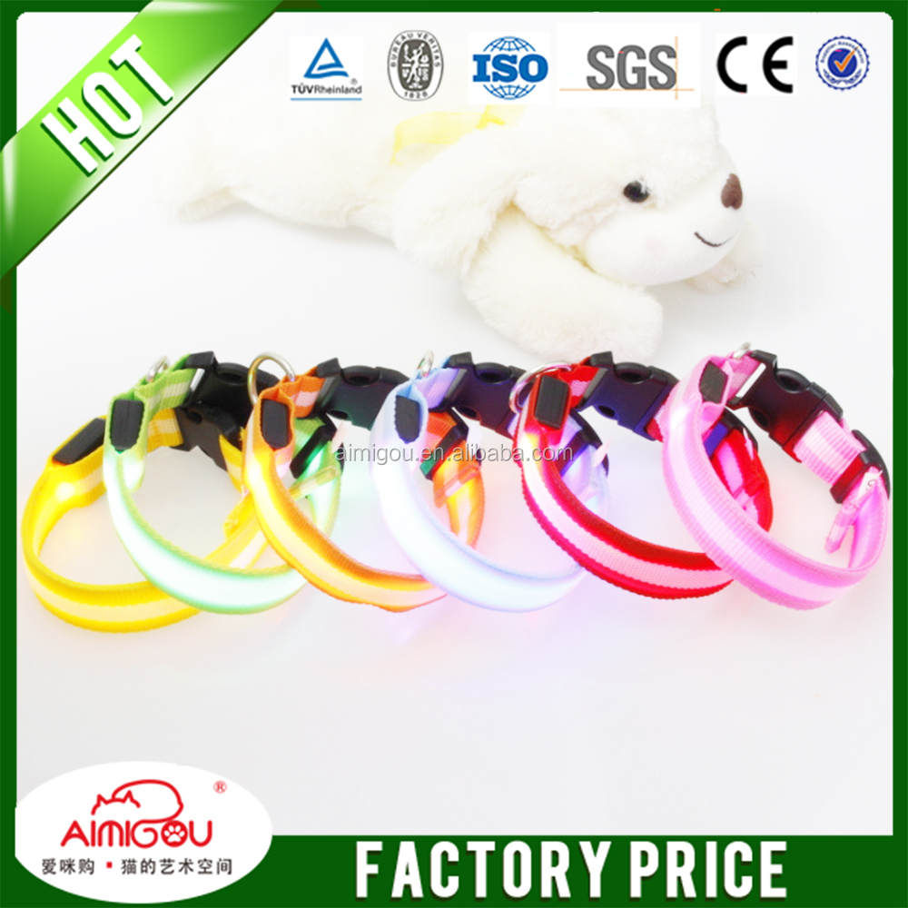 15 YEARS wholesale decorative soft neoprene waterproof dog collar/Pet Safety LED Leash
