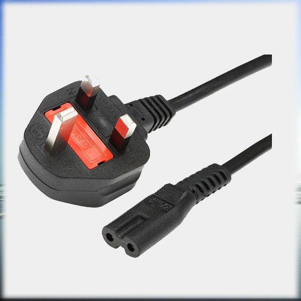 UK House Appliances Computer Cable 3 Pin Connector, IEC Mickey Mouse Butt Plug Power Cord