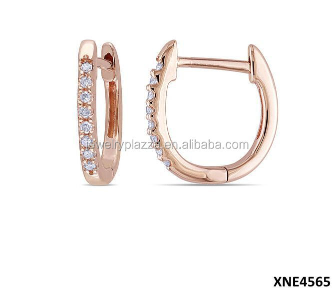 Adorable Rose Gold Plated Jewelry Sterling Silver Earrings Jewellery 2015 Wholesale