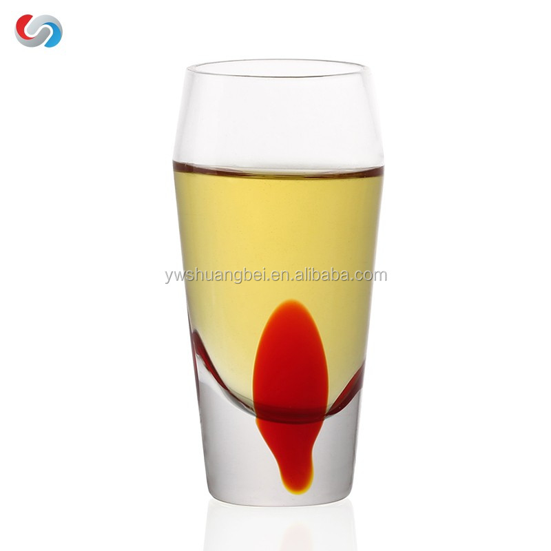 Creative Painting Transparent Small Whiskey Wine Drinking Glass Cup-Good For Gift