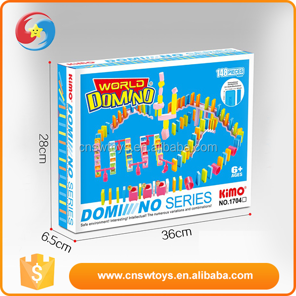 Best gift for kids 148 pcs plastic domino games manufacturers