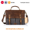 Multi-functional Messenger Bag Vintage Canvas Laptop Shoulder Bag Mens Satchel Briefcase Bag Fits Up 13.3 Inch Laptop ,Dark Grey