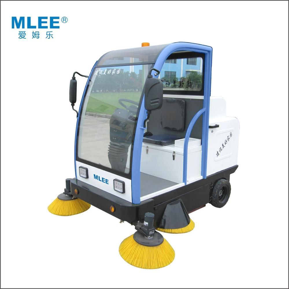 MLEE1800 commercial industrial water spraying dust dirt garbage remover vacuum road floor sweeper cleaner