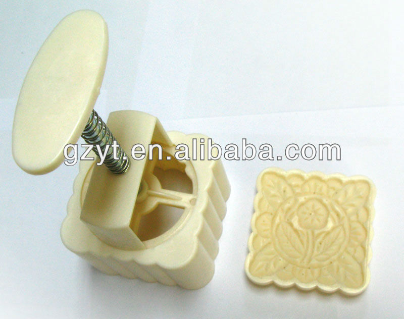 Plastic Square-shaped cake stamp custom moon cake mold