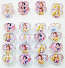 Lot Mixed Lovely Resin Cartoon Princess Children Kids Rings