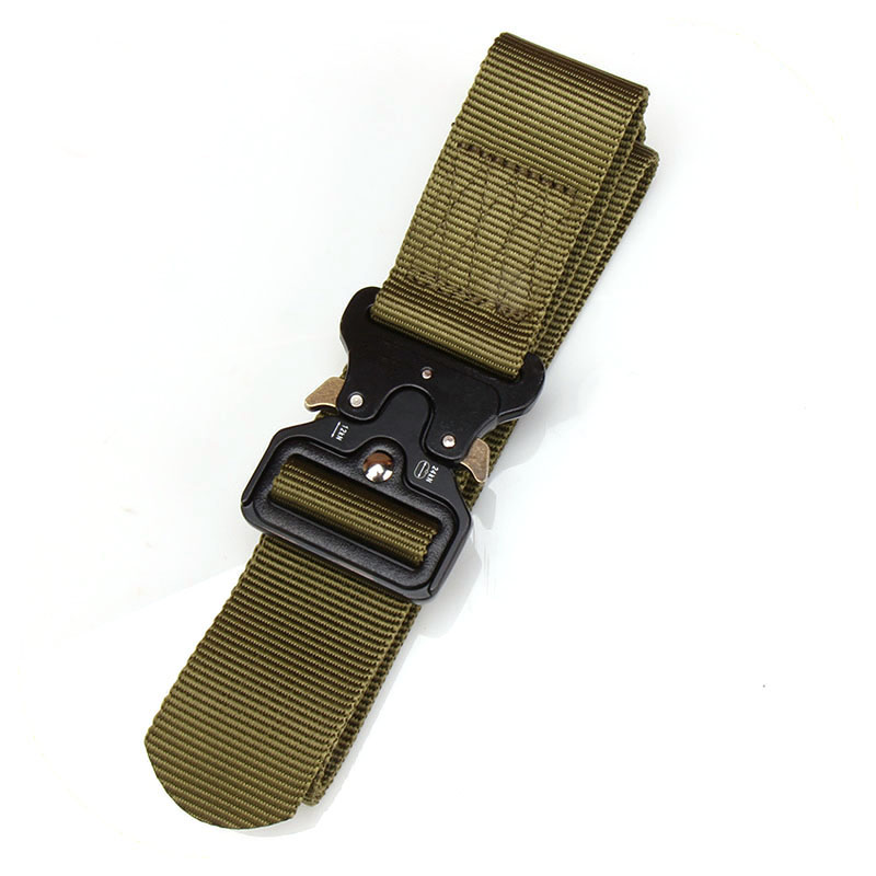 Custom Logo Buckle Military Canvas Adjustable Survival Tactical Belt