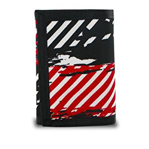 Generic 219855 Trifold Splatter and Stripes Canvas Wallet