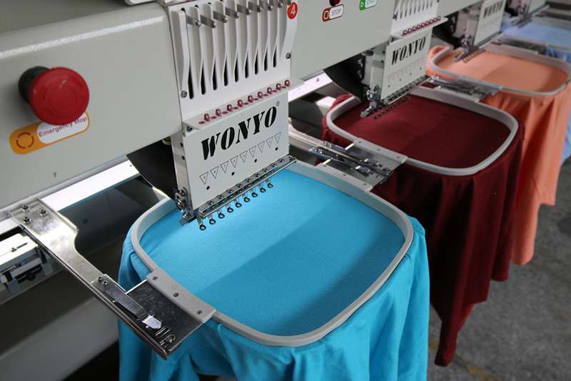 cheap hat 10 heads 12 needles 3D embroidery printing machine