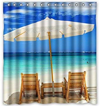 Get Quotations Personalized Beach Chairs PEVA Shower Curtain 66 X