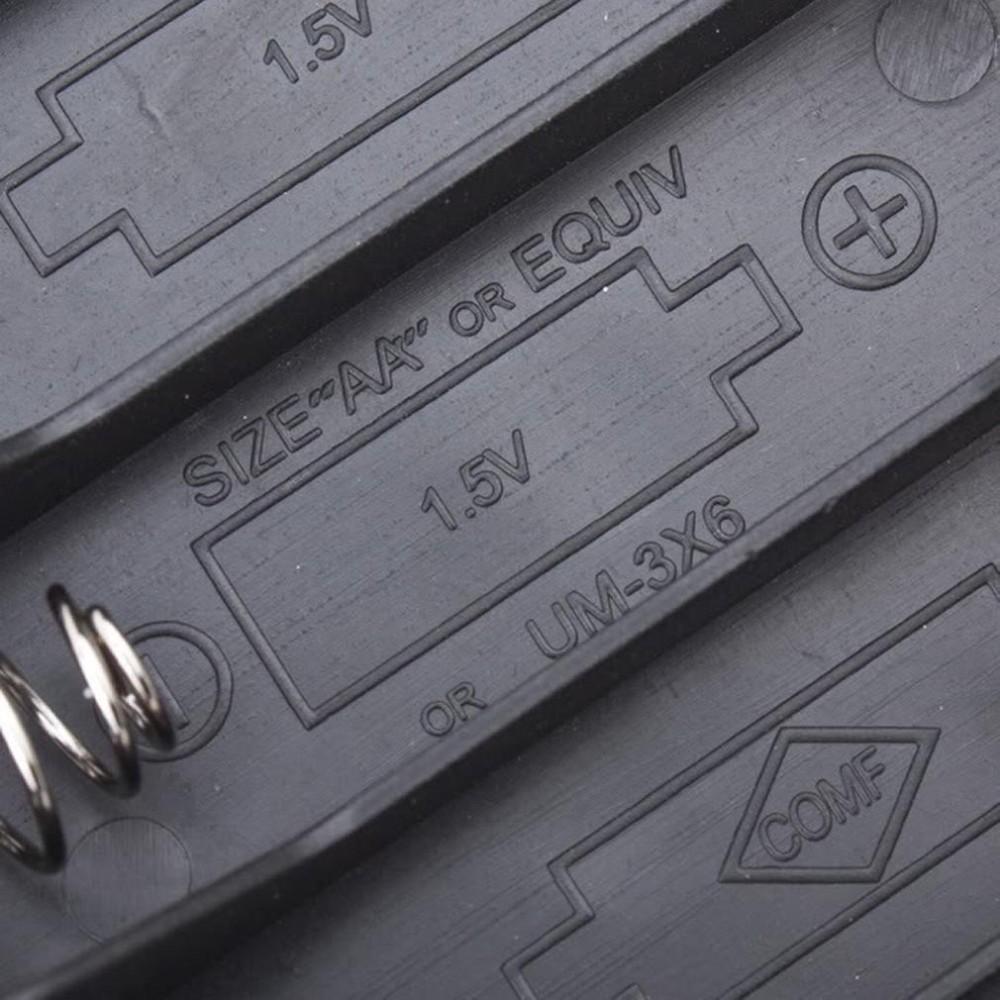 Ranura de la caja de batería para 4 paquetes estándar AA 2A baterías pila 6 V