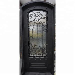 Rustic Wrought Iron Prehung Metal Dutch Doors With Screens