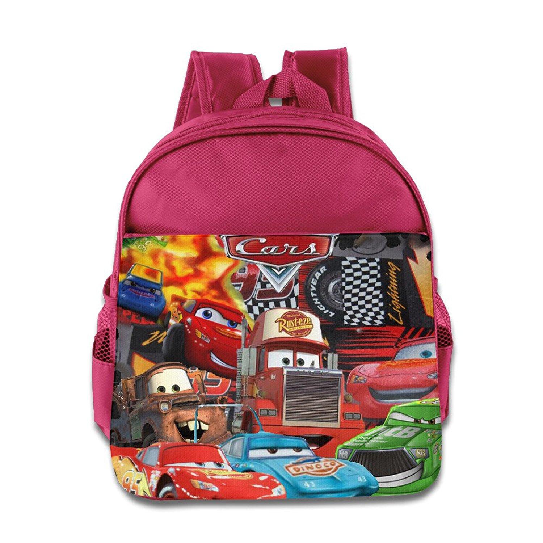 3eea27e75a9 Get Quotations · Cars Lightning McQueen Kids School Backpack Bag Pink
