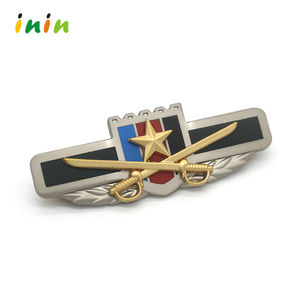 Hot Selling Wholesale Rivet Name Plate , Two Tone Plating Custom Name Badge
