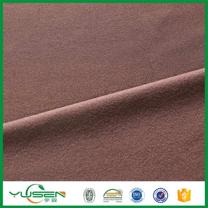 polyester warp knit tricot,one side brushed fabric,fashion womenwear material