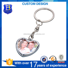Promotional Gifts Zinc Alloy Love Heart Shape Digital Photo Frame Key chain