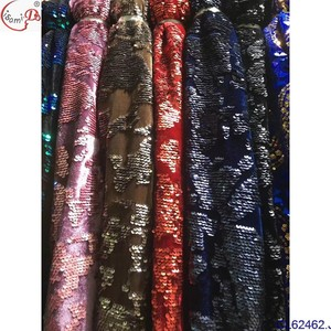 African Lace Fabric 2018 French Sequins velvet lace chowleedeeSequins Fabrics High Quality African Black Sequins Lace Fabric