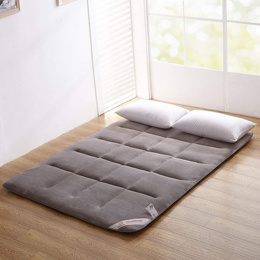 f5bf4751ef865 Get Quotations · ColorfulMart Gray Grey Flannel Japanese Floor Futon  Mattress. Sleeping Pad